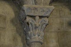 Столица в замке Loarre стоковые фотографии rf