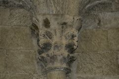 Столица в замке Loarre стоковые изображения rf