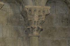 Столица в замке Loarre стоковое фото