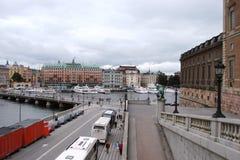Столица Стокгольма Швеция Панорама старой исторической части столицы Швеции стоковые изображения