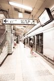 Столичное метро в Сеуле, Южной Корее стоковые фотографии rf