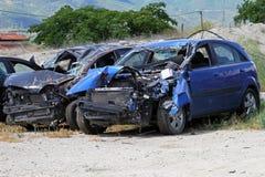 Столкновение автомобиля стоковое фото rf