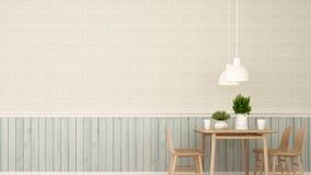Столовая в ресторане или кофейне - переводе 3D Стоковое Фото
