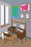 стол грязный Стоковые Изображения RF