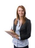 стол дела замечает сочинительство женщины Стоковые Фото