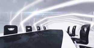 Стол конференции с абстрактным вид спереди предпосылки Стоковые Изображения RF