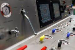 Стол операции по контролю буровой установки Стоковые Фото