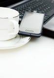 стол чашки coffe Стоковое фото RF