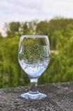Стопка с сверкная водой Стоковое фото RF