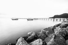 Стопы и старый мост Стоковое Изображение RF