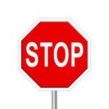 стоп дорожного знака Стоковое Изображение RF