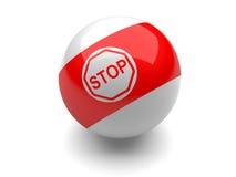 стоп знака биллиарда шарика Стоковые Фото