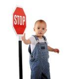 стоп знака младенца Стоковые Фотографии RF