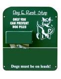 стоп знака остальных собаки e Стоковые Изображения RF
