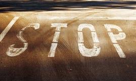 СТОП - картина дороги Стоковое Изображение RF