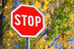 СТОП дорожного знака Стоковое Изображение