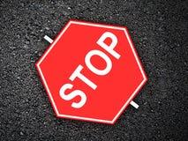 Стоп - дорожный знак Стоковое Фото