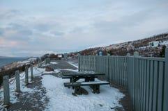 Стоп остатков на дороге одно в Исландии Стоковое Изображение RF