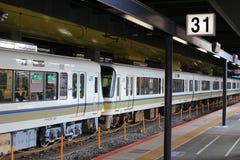 стоп поезда на станции Киото Стоковая Фотография