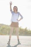 Стоп показа женщины с руками Стоковое Изображение