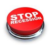 стоп рецессии кнопки Стоковая Фотография