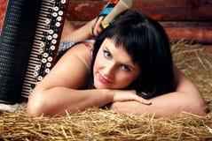 сторновка девушки стоковое изображение rf