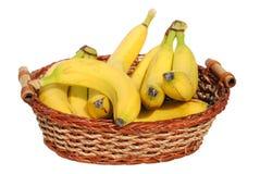 сторновка корзины бананов Стоковое Фото