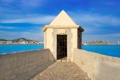 сторожевая башня взгляда порта ibiza eivissa Стоковые Изображения
