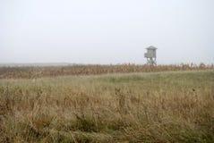 Сторожевая башня в тумане Стоковые Изображения RF