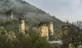 Сторожевая башня в Svaneti Georgia стоковое фото rf