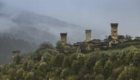 Сторожевая башня в Svaneti Georgia стоковое изображение rf