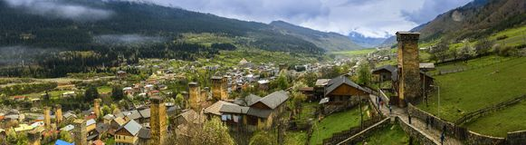 Сторожевая башня в Svaneti Georgia стоковая фотография