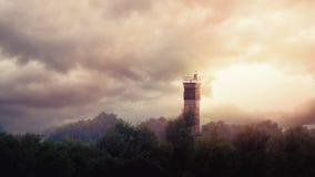 Сторожевая башня на бывшей внутренней немецкой границе стоковая фотография rf
