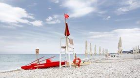 Сторожевая башня для спасения на море Стоковое Изображение RF
