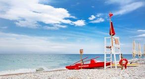 Сторожевая башня для спасения на море Стоковая Фотография RF