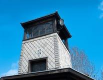 сторожевая башня auschwitz g Стоковые Фотографии RF