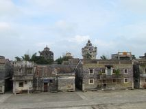 Сторожевая башня Kaiping Diaolou в месте всемирного наследия ЮНЕСКО Chikan Стоковые Фотографии RF