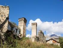 Сторожевые башни Svan в Georgia Стоковая Фотография RF