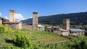 Сторожевые башни Svan в Georgia Стоковое Фото