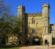 Сторожка аббатства восточного Сассекс сражения построенного на месте сражения Hastings стоковое изображение