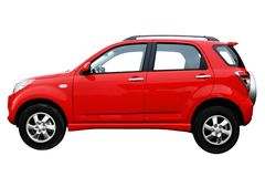 сторона автомобиля самомоднейшая красная Стоковое фото RF