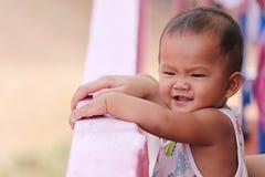 Сторона азиатского мальчика ребенка который 1-ти летний Стоковая Фотография RF