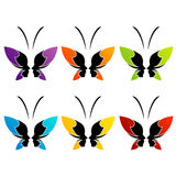Сторона дамы и бабочки Стоковая Фотография RF