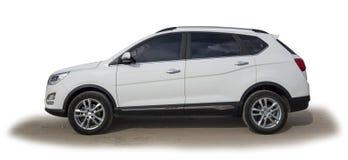 Сторона белого SUV стоковые изображения rf