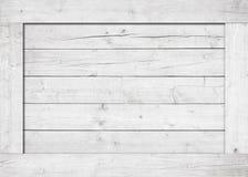 Сторона белых деревянной клети, коробки, стены или рамки Стоковые Фотографии RF