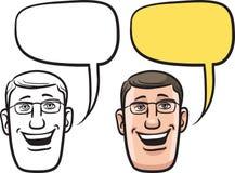Сторона бизнесмена шаржа усмехаясь бесплатная иллюстрация