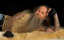 Сторона бородатого человека чувствительная Стоковая Фотография