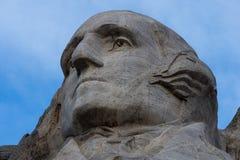 Сторона Вашингтона на Mt Rushmore стоковое изображение rf