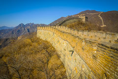 Сторона Великой Китайской Стены Стоковые Изображения RF