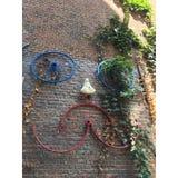 Сторона велосипеда искусства Амстердама стоковые фотографии rf